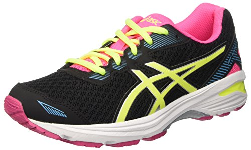 asics-gt-1000-5-gs-scarpe-running-unisex-bambini-nero-black-safety-yellow-pink-glow-39-eu