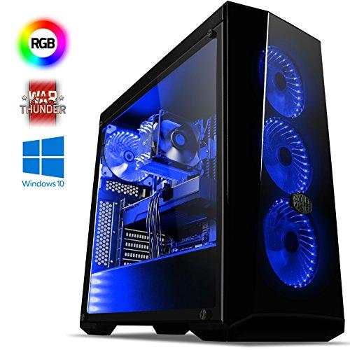 VIBOX Trident GL570T-35 Gaming PC Computer mit War Thunder Spiel Bundle, Windows 10 OS (4,3GHz Intel i5 6-Core Prozessor, Nvidia GeForce GTX 1070 Ti Grafikkarte, 8Go DDR4 2133MHz RAM, 2TB HDD)