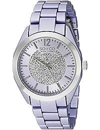 So y Co para mujer de Nueva York reloj infantil de cuarzo con diseño de rayas de morado esfera analógica y Morado correa de acero inoxidable de 5096a. 2