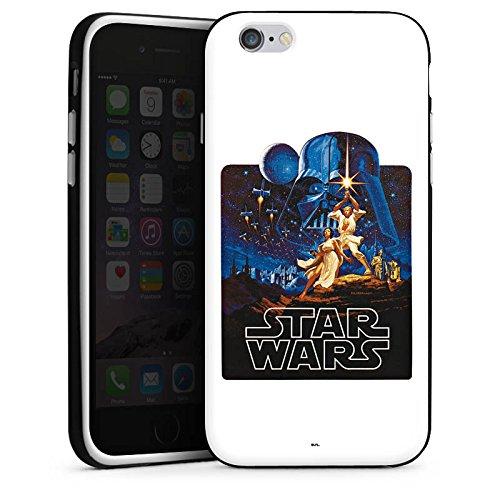 Apple iPhone X Silikon Hülle Case Schutzhülle Star Wars Merchandise Fanartikel Episode IV Silikon Case schwarz / weiß