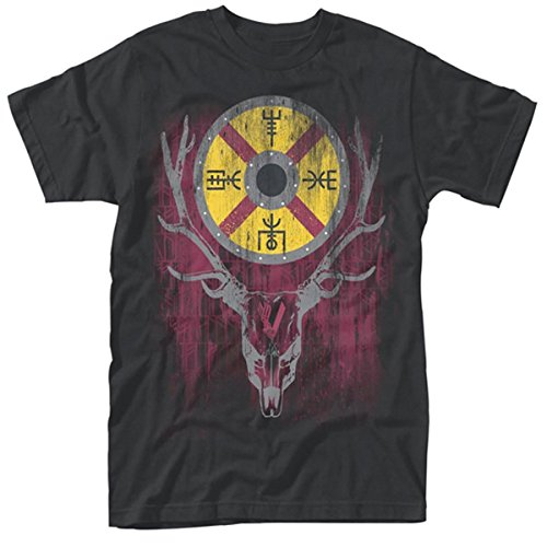 Plastic Head Vikings Stag, T-Shirt Uomo, Nero, X-Large