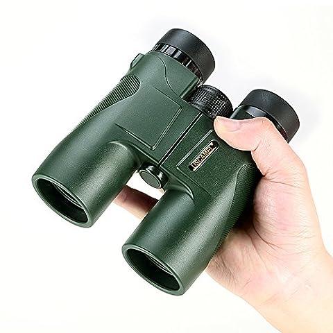 USCAMEL Fernglas Testsieger, 10x42 Wasserdicht Metallische Spiegelkörper Grüner Film Hohe
