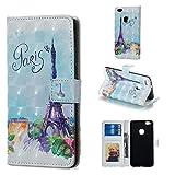 BONROY Hülle,Huawei P10 Lite Schutzhülle, Lederhülle PU Leder Tasche Cover Wallet Case für Huawei P10 Lite Smartphone-(XS-Eisenturm)