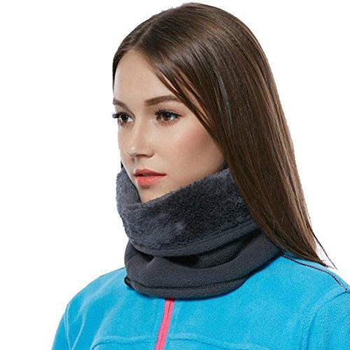 LvLoFit Winddicht Nackenwärmer Mehrfachfunktion für Snood Kopf Beanie Gesichtsmaske Scarf Thermo Fleece Winter Sport Herren Damen Neckwarmer (Schwarz) (Kopf Snood)