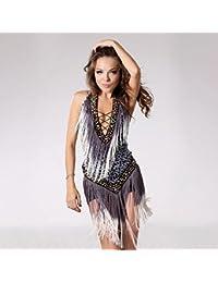 baile latino con flecos vestido   trajes de la etapa mujer estilo tribal  bfa690bf38f