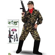VESTITO COSTUME Maschera di CARNEVALE bambino - Soldato MILITARE - Taglia  8 9 anni - ba44c7e0c277