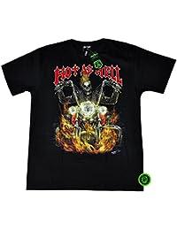 """T-Shirt Rock Chang """"Glow in the dark"""" Chang Heavy Metal Biker Tattoo Rocker Gothic (4027)"""