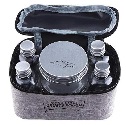 CTOBB 7 Stück/Set Outdoor Camping Geschirr Vorratsbehälter Gewürzbehälter Gewürzbehälter Gewürzbox Tragbare Ölflasche für BBQ Picknick Outdoor Requisiten (Tikes Little Grill)