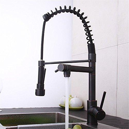 QINLEI kaltes und warmes wasser mischen ventil kupfer europäischen küchenarmatur zieht art spritzdüse 360 - grad - großen waschbecken zu rotieren moderne waschbecken wasserhahn