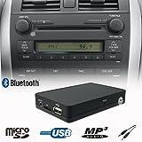 Bluetooth Freisprecheinrichtung A2DP USB SD AUX WMA MP3Player CD Wechsler Adapter Interface Auto-Kit für Toyota Auris Avensis Camry Celica, Corolla, HiLux Land Cruiser Previa Prius Yaris