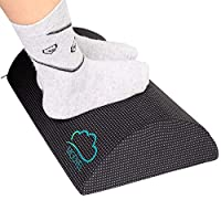وسادة من الفوم لراحة القدم من مودفيل - مسند قدم تحت المكتب للراحة في المكتب، غير قابل للانزلاق مع خلوص الساق، مقعد مريح للقدم المصابة بالتقرحات، مزدوج الجانبين للتمرين، (MV-125)