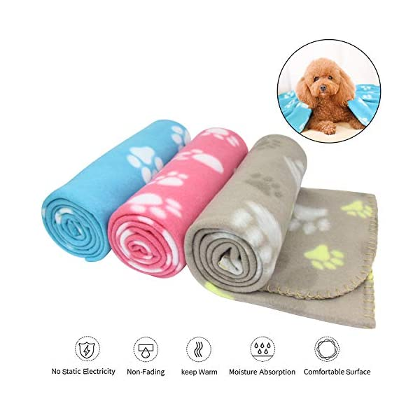 AK-KYC-3-pack-40-x-28-Puppy-Blanket-Cushion-Dog-Cat-Fleece-Blankets-Pet-Sleep-Mat-Pad-Bed-Cover-with-Paw-Print-Kitten-Soft-Warm-Blanket-for-Animals