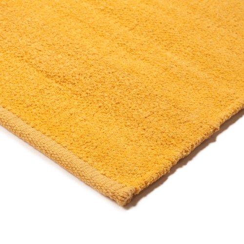 Monbeautapis Pflaume 558515Chenille Teppich, Baumwolle, 85x 55cm, Baumwolle, gelb, 85x55x5 cm -