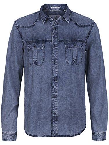 Solid - Camicia en jeans Solid Levon Blu