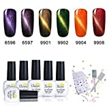 Ukiyo 6PCS Soak Off kit smalto semipermanente Remover Wraps L'occhio del gatto + magnete 8ml UV LED Smalto semipermanente unghie in Gel gel polish Nail Art set