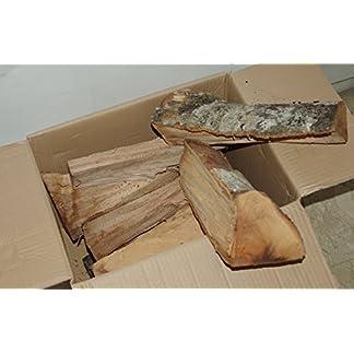 Madera de haya en cepas de 33 cm de longitud en caja de 12 kg.