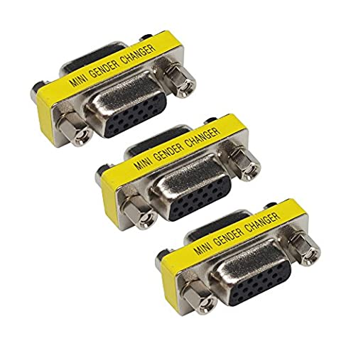 3 PACK HD15 VGA SVGA Female zum weiblichen Mini Gender Changer Koppler Adapter