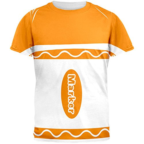 Halloween-Marker Kostüm Orange aller Herren-T-Shirt Multicoloured
