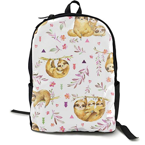 Sloths Hangin On鈥?Children's Bedding Baby Girl Nursery, SMALL Scale Adult Premium Travel Backpack, Water-Resistant College School Bookbag, Sport Daypack, Outdoor Rucksack, Laptop Bag for Men&Women