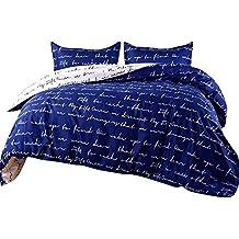 MISSMAO Housse de Couette - Imprimé Lettre d amour - Simple, Confortable et  élégant 1b5ff9b6bb42