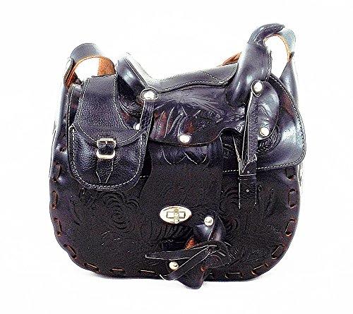 Damen Handtasche Sattel (Handtasche