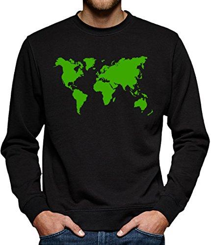 TLM Sheldon Weltkarte Sweatshirt Pullover Herren M (Erde Kostüm Bilder)