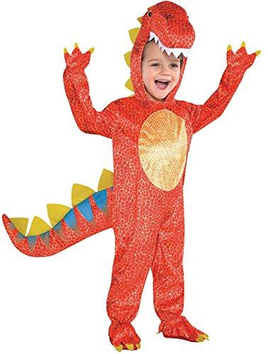 Kinder Größe Dinomite Orange Dinosaurier Kostüm Medium (4-6 years)