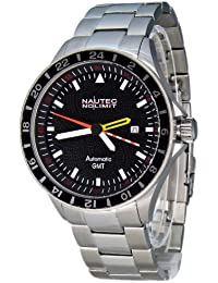 Nautec No Limit Herren-Armbanduhr Mistral 2 MS2 AT-GMT/STSTSTBK