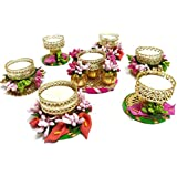 Quvyarts Handmade Wax Tea Light Candles For Decoration Set Of 7 Candle/Home Decor/Diya For Puja/Decorative / Diwali/Festivals / All Purpose/Gift