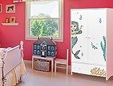 I-love-Wandtattoo ILWS-19-003 Kinderzimmer Möbelsticker Set 'Unterwasserwelt für Mädchen' zum Kleben Möbeltattoo Möbelaufkleber Möbeldeko Sticker Meerjungfrau