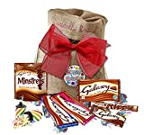 Galaxy chocolates by The Yummy Palette | Birthday chocolate gifts Galaxy Ripple chocolate Galaxy Minstrels in Basically British Burlap Bag