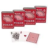 Goods & Gadgets Royal Kunststoff Poker-Karten Plastikkarten Spielkarten aus 100% Plastik; 4 Decks
