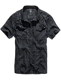 Brandit Hommes Roadstar Shirt Noir / Bleu