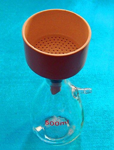 mxbaoheng 500ml, Filtration Buchner Trichter Kit, mit schweren Wand Glas Fläschchen, lab Gläser (Wand-gläser Schwere)