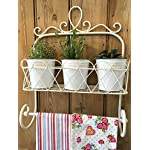Gorgeous Shabby Chic French Vintage Style Shelf & Towel Rail Unit - Perfect Shelf Unit for any Hallway, Bedroom, Living Room, Dining Rooms or Bathroom