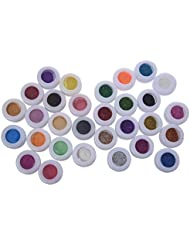 SODIAL(R) 30 Mix Powder Pigment Glitter Mineral Eyeshadow Makeup