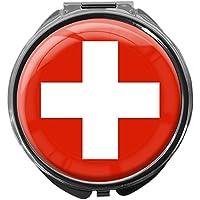 Pillendose/rund/Modell Leony/FLAGGE SCHWEIZ preisvergleich bei billige-tabletten.eu