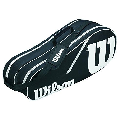 Wilson Schlägertasche Advantage II Six Racket Bag, Schwarz, 31 cm x 47 cm x 18 cm, 65 Liter, WRZ601406