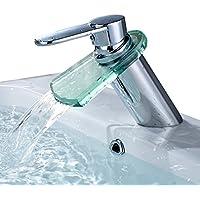 Auralum® rubinetto del bacino, rubinetti di vetro cartuccia Chrome ceramica