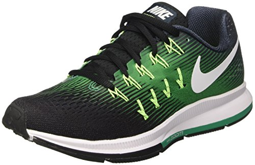Nike Air Zoom Pegasus 33, Entraînement de course homme Multicolore (Armry Nvy/white-black-stdm Grn)