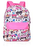 L.O.L. Surprise ! Backpack for Girls and Teens Featuring AllOver Dolls Print | Kids LOL Bag for School Or Travel, Pink Canvas Girls Rucksack with Front Pocket | Great Birthday Gift Idea