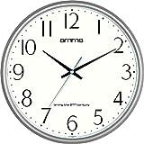 Grand Bold rond 36 cm et Date Quartz-Horloge murale