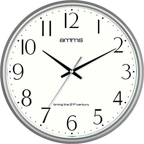 Redondo 36 cm Bold elegante y fecha de cuarzo reloj de pared