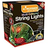 Multi Coloured Solar Powered Outdoor Garden Flashing Decorative 50Pk String Lights