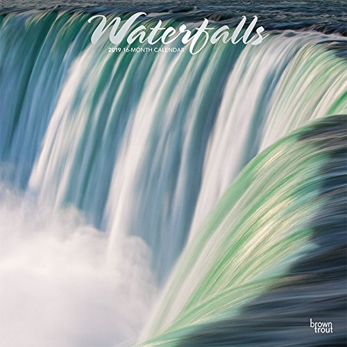 Waterfalls 2019 Square Foil por Inc Browntrout Publishers