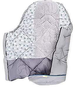 Priebes Jens Universal Winter Fußsack Für Kinderwagen Buggy Länge 100 Cm Komplett Abnehmbares Fußteil Mumienform Atmungsaktiv Design Schwalben Grau Baby