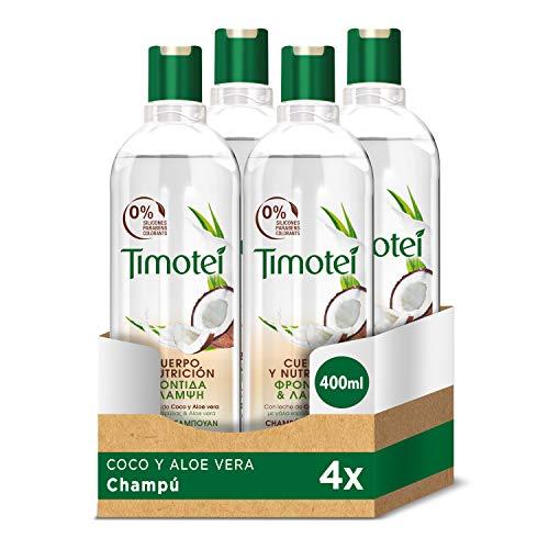 Timotei Champú Coco Y Aloe Vera - 4 Paquetes 400