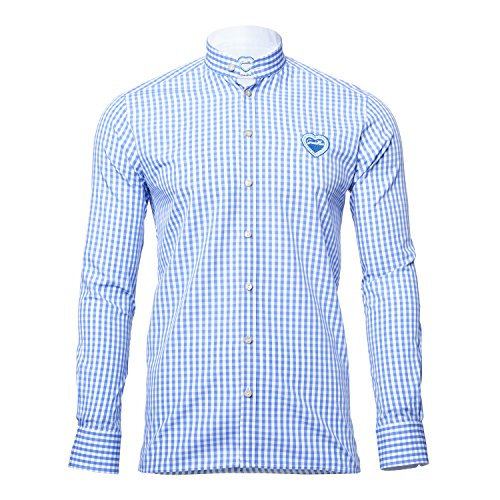 GaudiHerz - Trachtenhemd - hellblau (XL)