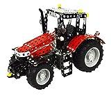Tronico 10087 - Metallbaukasten Traktor Massey Ferguson MF 5430 mit Fernsteuerung, Junior Serie, Maßstab 1:24, 531-teilig, rot