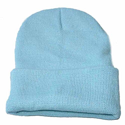 Laterne Für Verkauf Kostüm Blaue - Zottom Unisex Slouchy Strickmütze Hip Hop Cap Warme Winter-Ski-Mütze